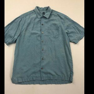 Tommy Bahama Men's Blue Short Sleeve Button Down